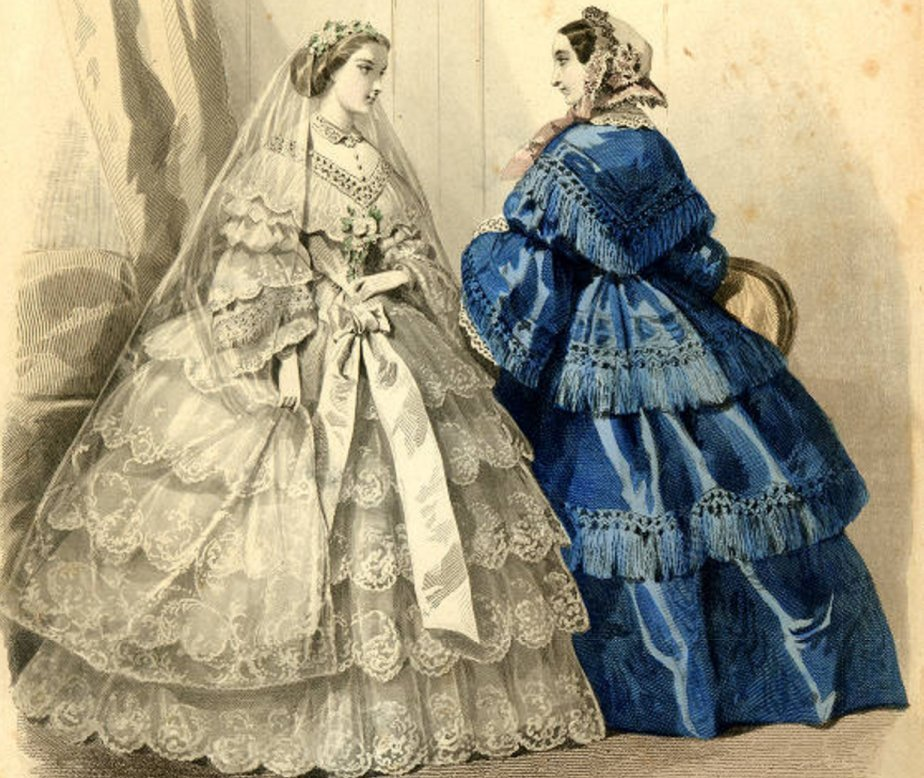נשים בשמלות קרינולינות
