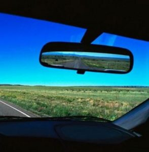 We look at the present through the rear-view mirror