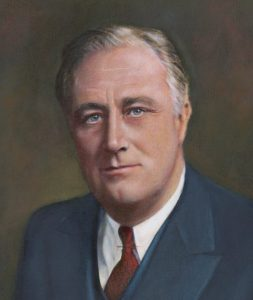 A portrait of Franklin Roosevelt
