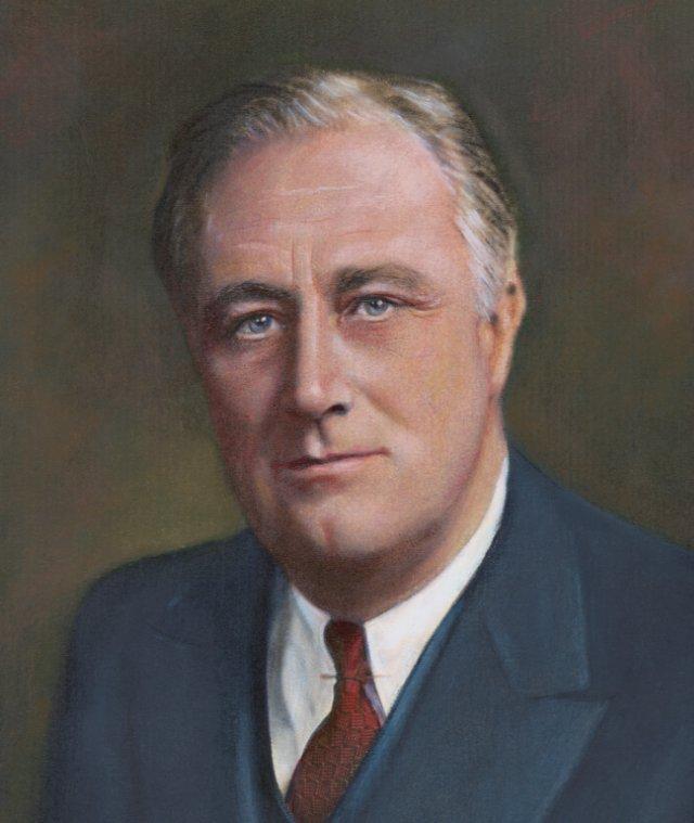 A portrait of Franklin Roosevelt