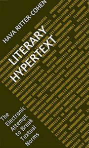 A colorful photo of the Kindle book Literary Hypertext - by Hava Ritter Cohen
