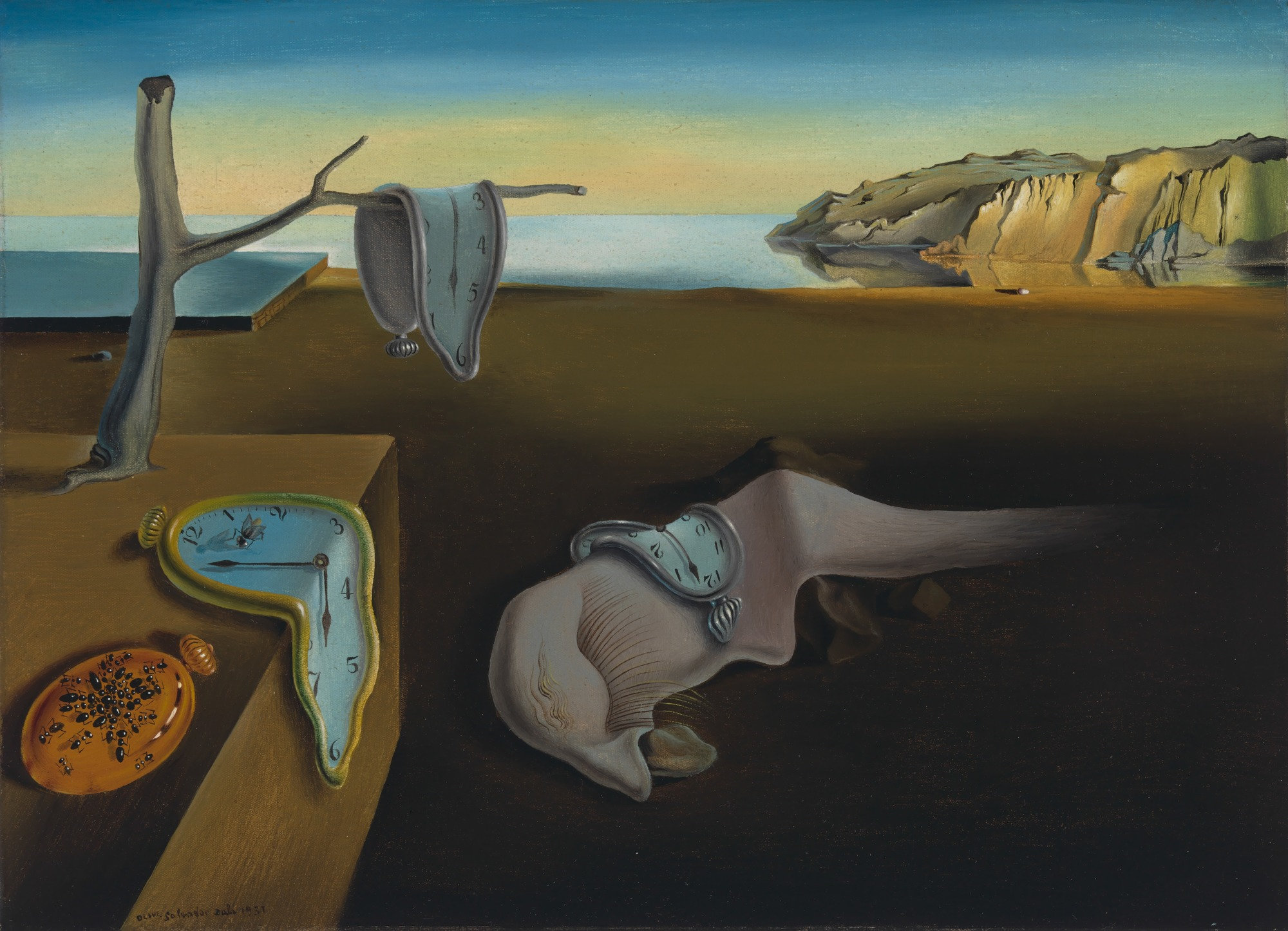 """""""The Persistence of Memory"""" by Salvador Dalí, 1931,MoMA, concentration"""