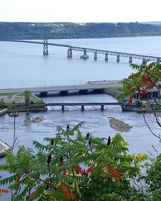 Quebec - A bridge over the Saint Lawrence River.