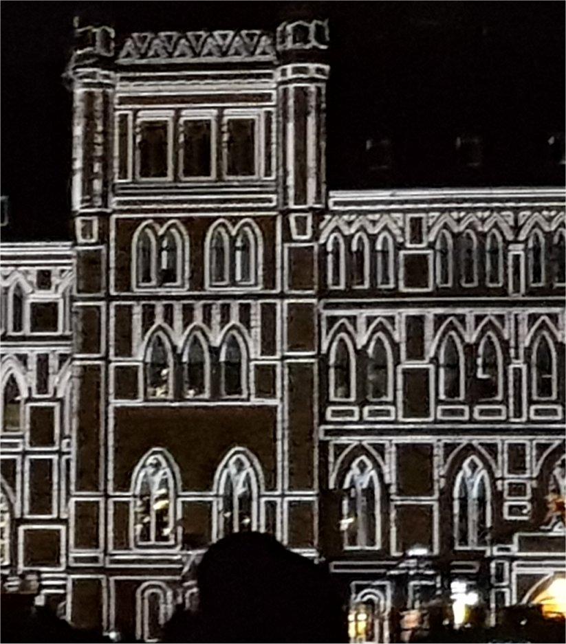 מופע אור-קולי על בניין הפרלמנט