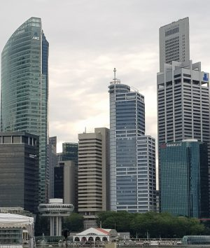 City center skyscrapers Singapore