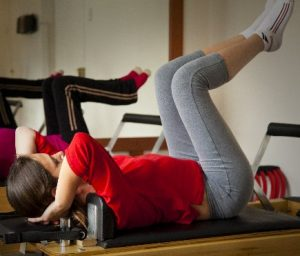 Exercising Pilates for weight watch